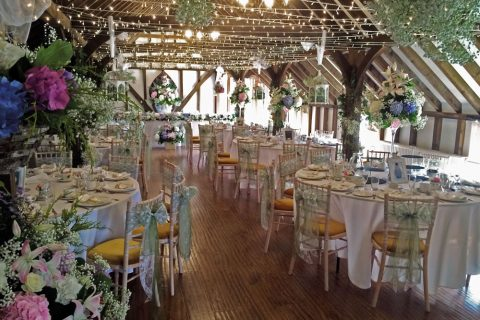 Spring Inspired Wedding Breakfast In The Tudor Barn