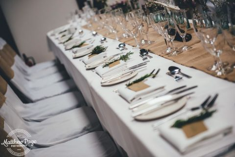 Table Set Up In The Granary By Matthew Page Photography