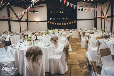 Wedding Breakfast In The Granary By Matthew Page Photography