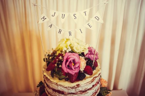 Just Married - Wedding Cake