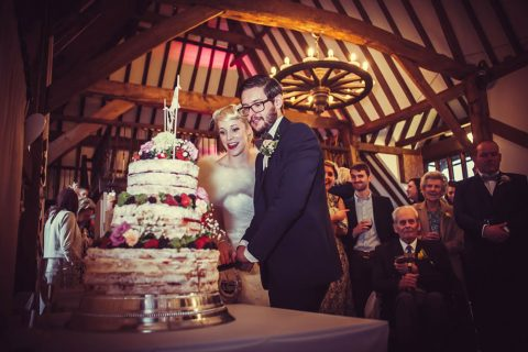 Cutting The Cake In The Tudor Barn